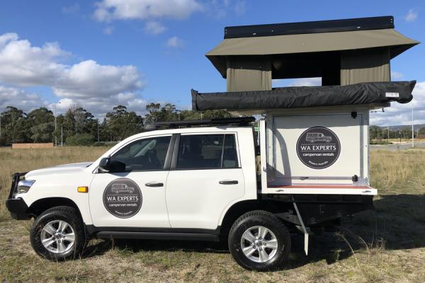 4WD with Roof Top Tent & POD (200 Series Toyota Landcruiser Auto) & Camper Trailer