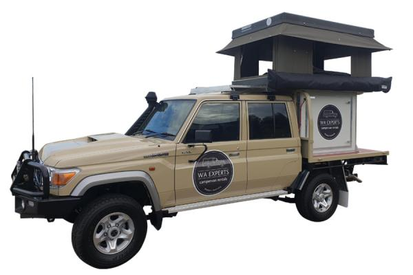 4WD with Roof Top Tent & POD (79 Series Toyota Landcruiser)
