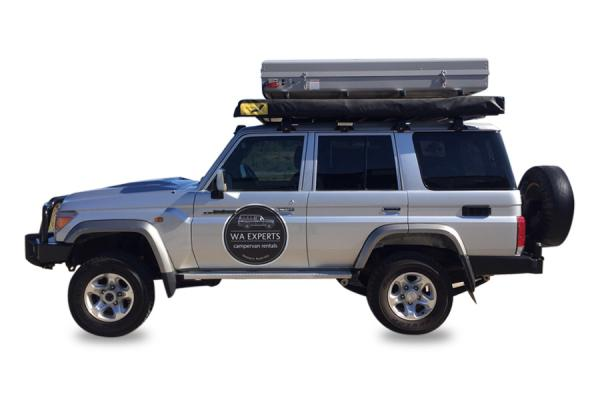 4WD with Roof Top Tent (76 Series Toyota Landcruiser)