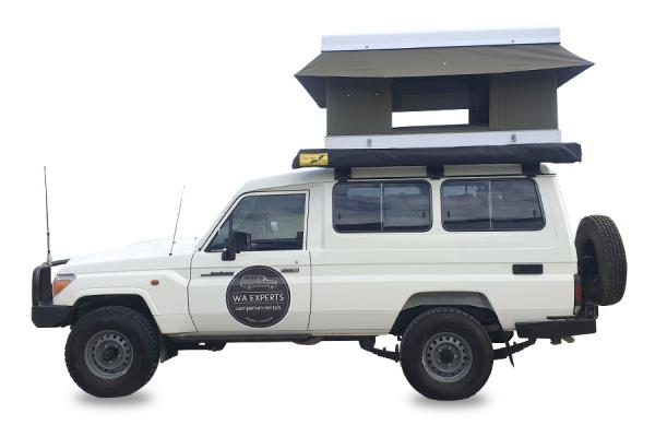 4WD with Roof Top Tent (78 Series Toyota Landcruiser)
